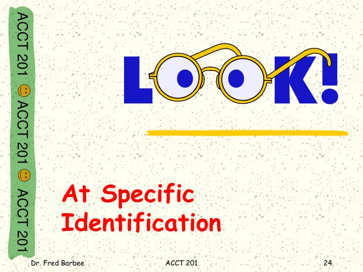 At Specific Identification