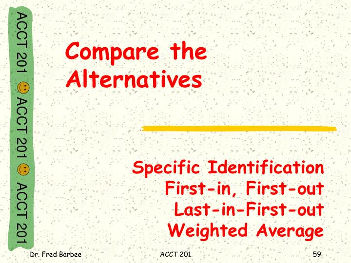 Specific Identification                    First-in, First-out                        Last-in-First-out                Weighted Average