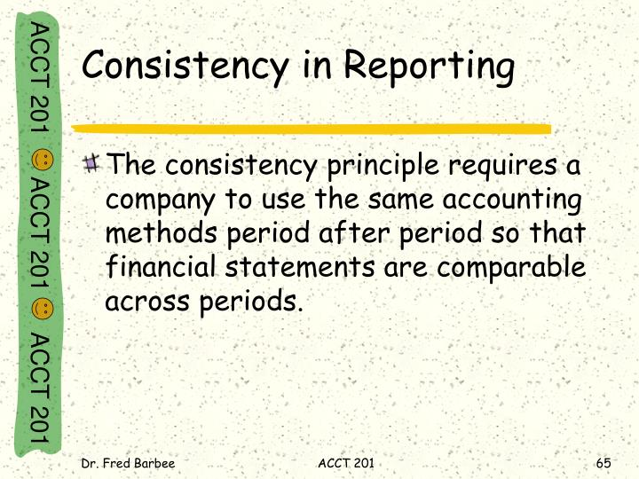 Consistency in Reporting
