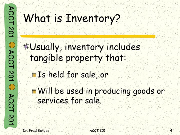 What is Inventory?