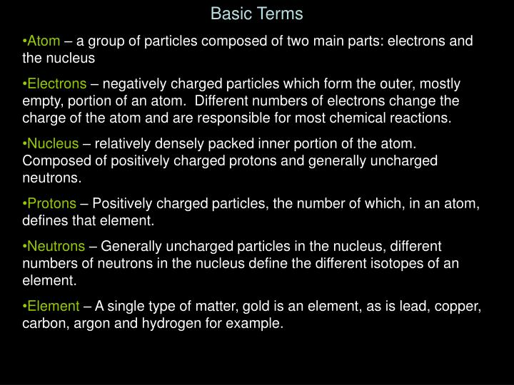 Basic Terms