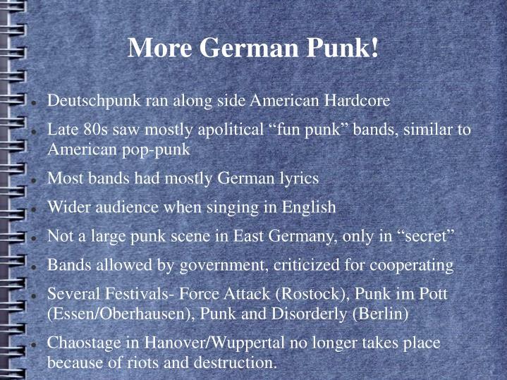 More German Punk!