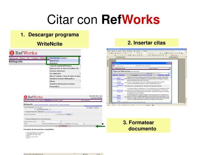 Citar con ref works