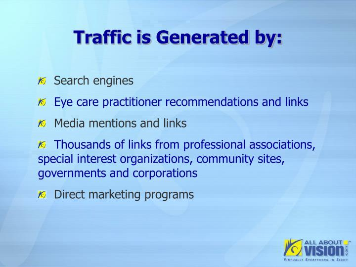 Traffic is Generated by: