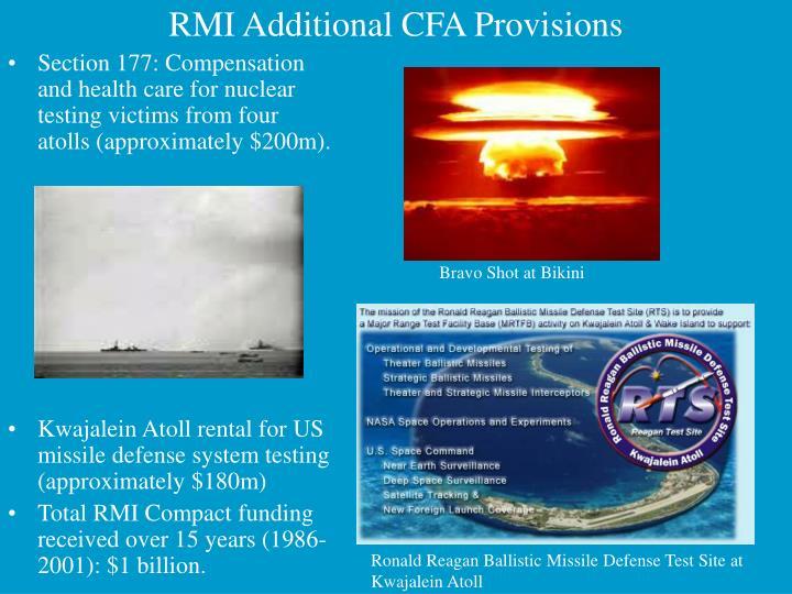 RMI Additional CFA Provisions