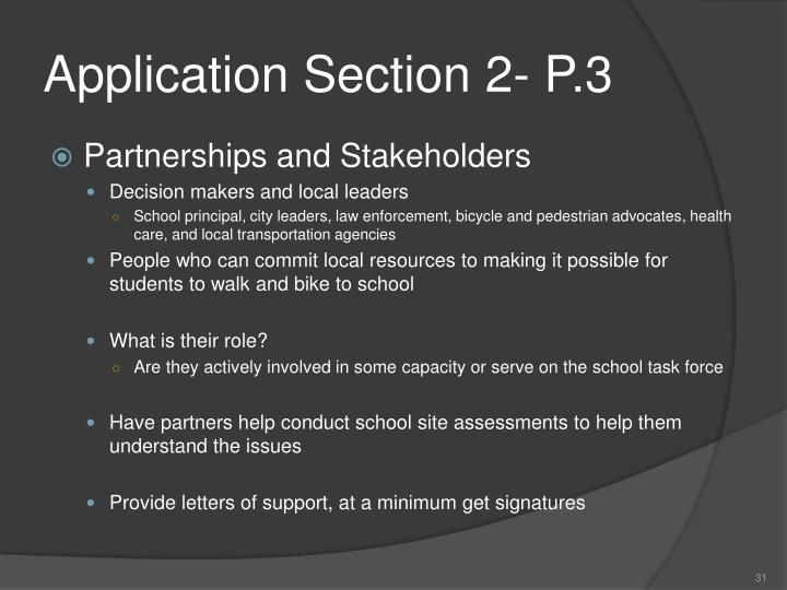 Application Section 2- P.3