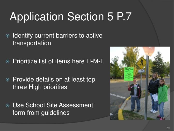 Application Section 5 P.7