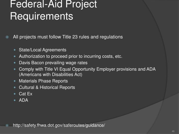 Federal-Aid Project Requirements