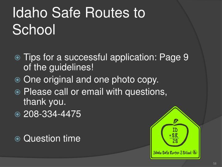 Idaho Safe Routes to School