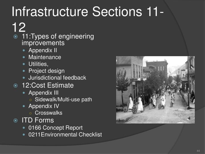 Infrastructure Sections 11-12