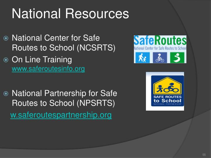 National Center for Safe Routes to School (