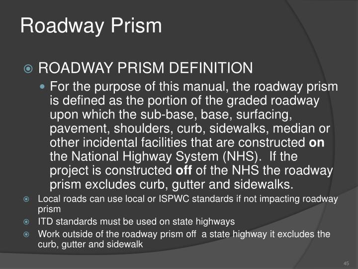 Roadway Prism