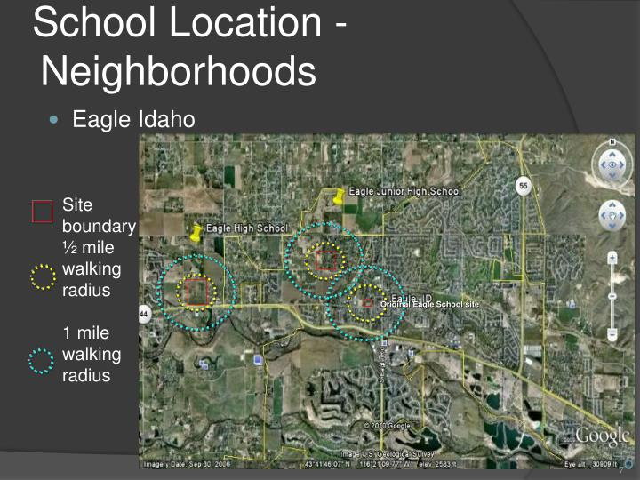 School Location - Neighborhoods
