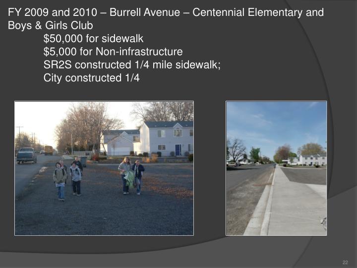 FY 2009 and 2010 – Burrell Avenue – Centennial Elementary and Boys & Girls Club