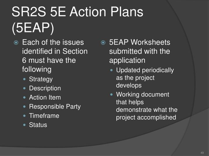 SR2S 5E Action Plans (5EAP)
