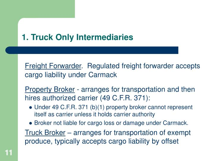 1. Truck Only Intermediaries