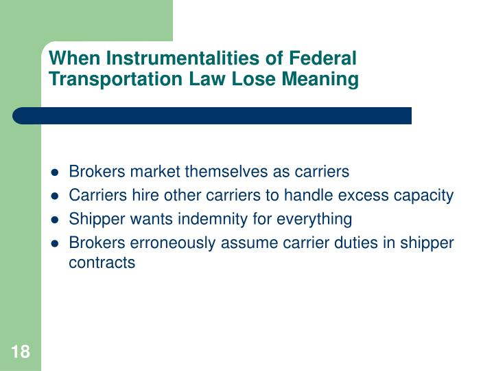 When Instrumentalities of Federal Transportation Law Lose Meaning