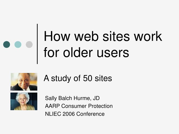 how web sites work for older users n.