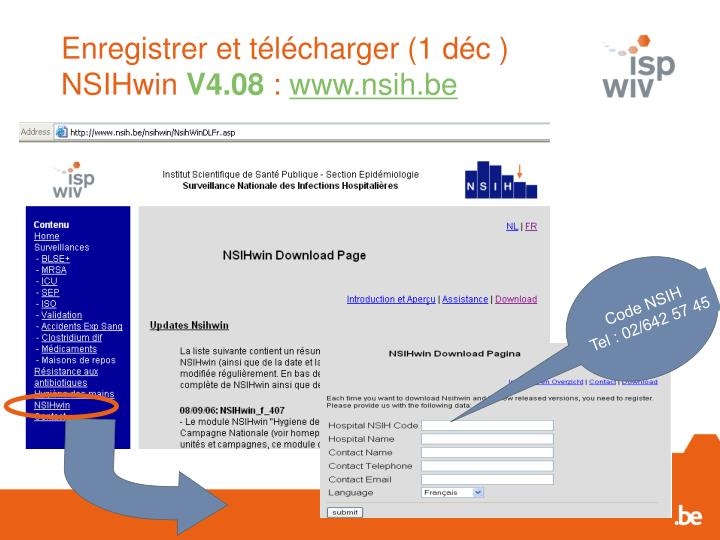 Enregistrer et t l charger 1 d c nsihwin v4 08 www nsih be