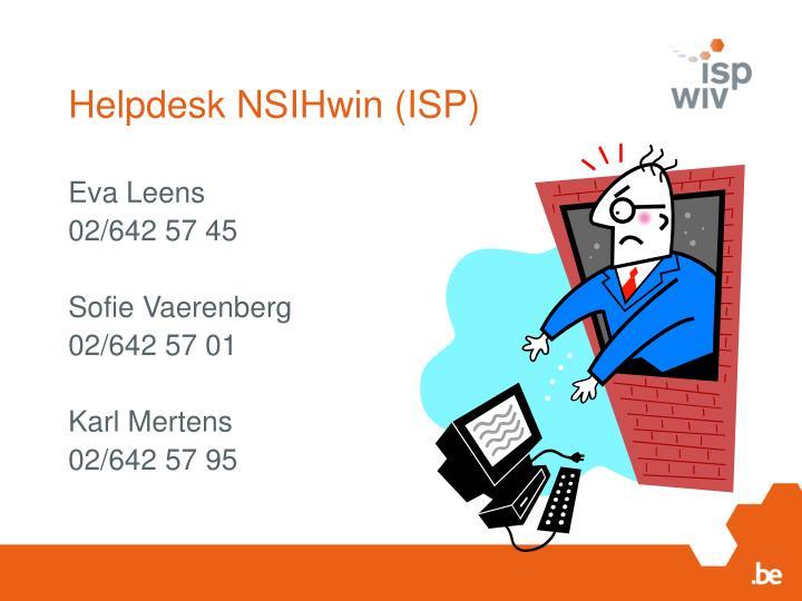 Helpdesk NSIHwin (ISP)