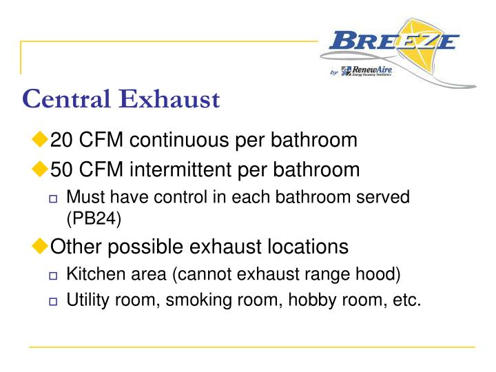 Central Exhaust