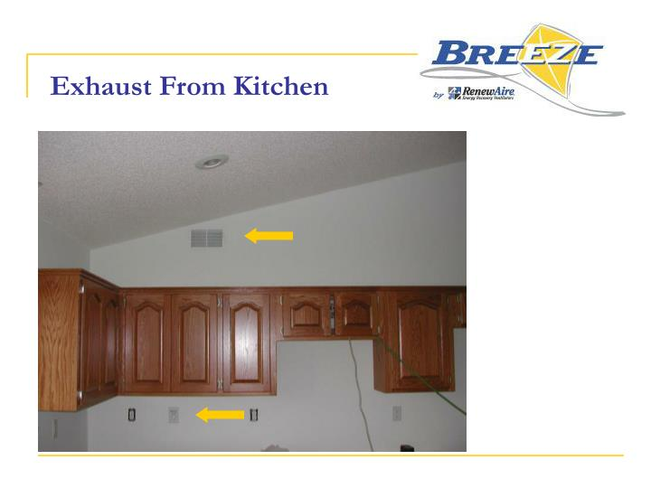 Exhaust From Kitchen