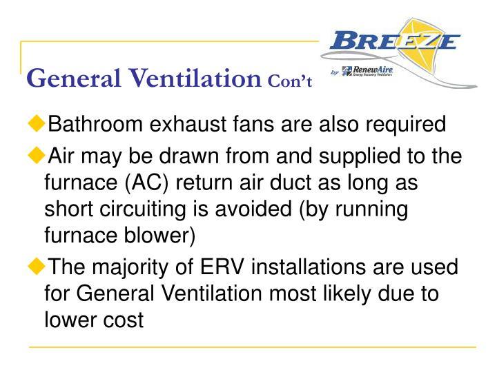 General Ventilation
