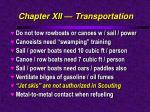 chapter xii transportation