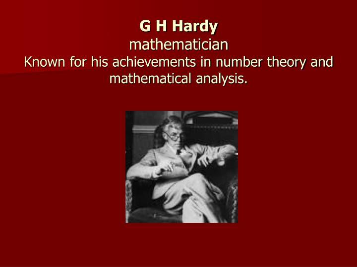 G H Hardy