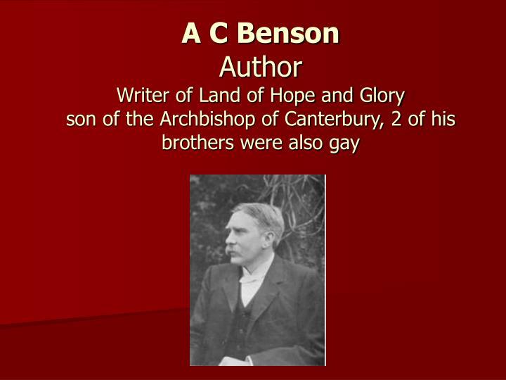 A C Benson