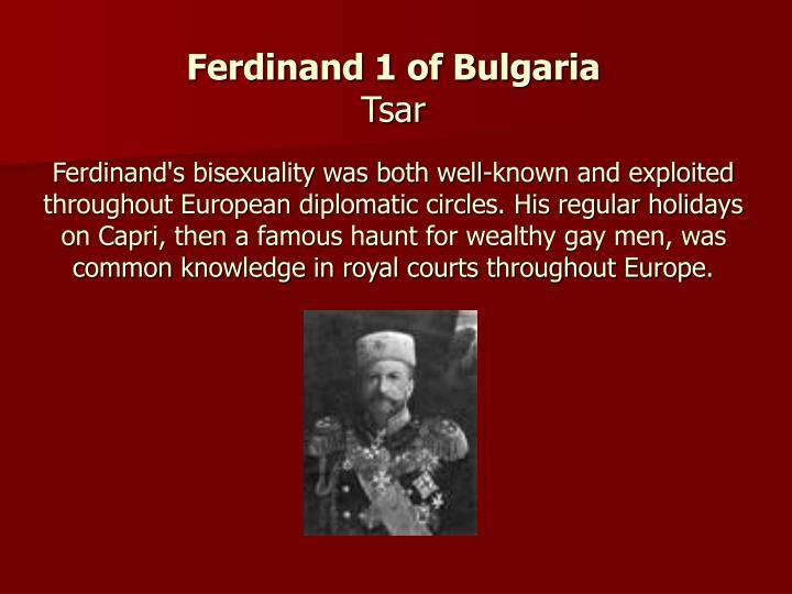 Ferdinand 1 of Bulgaria