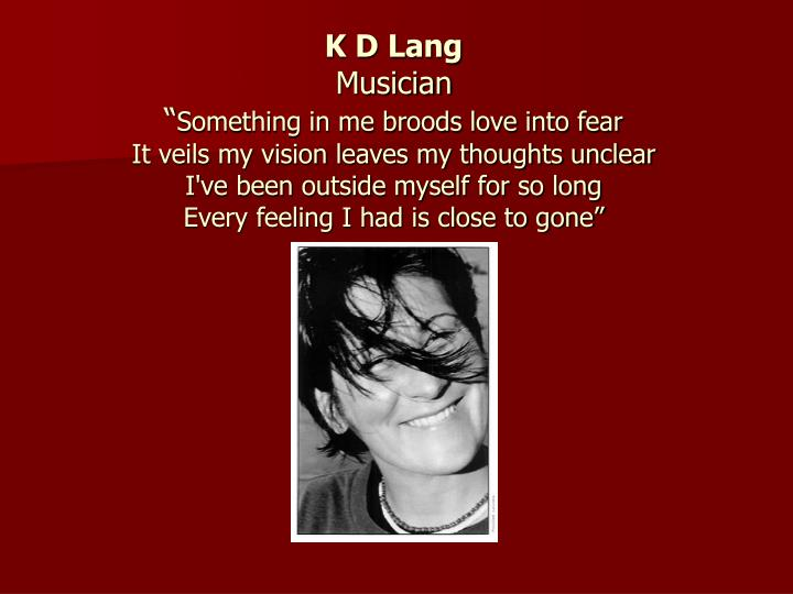 K D Lang