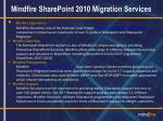 mindfire sharepoint 2010 migration services