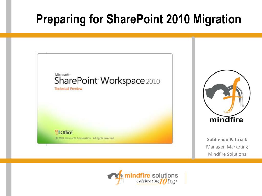 preparing for sharepoint 2010 migration l.