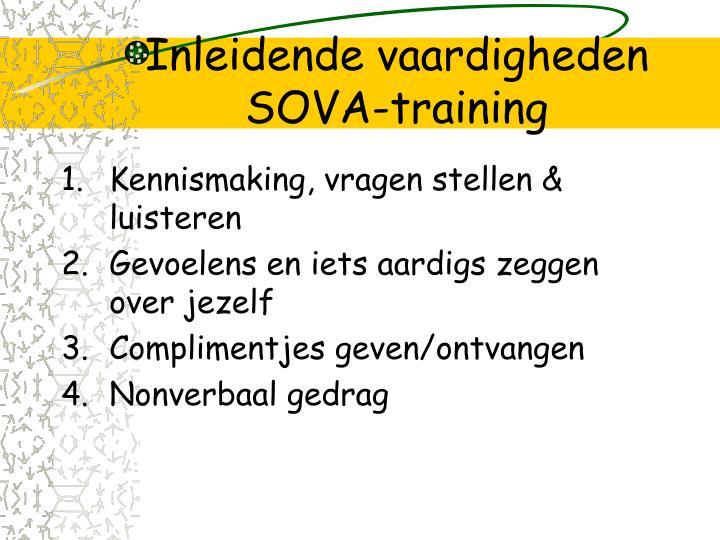 Inleidende vaardigheden SOVA-training