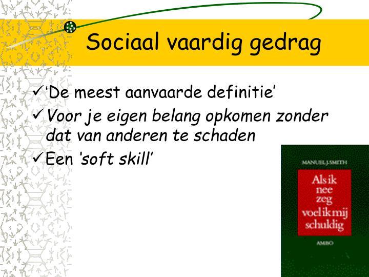 Sociaal vaardig gedrag