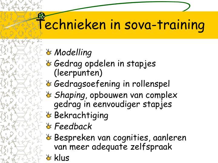 Technieken in sova-training