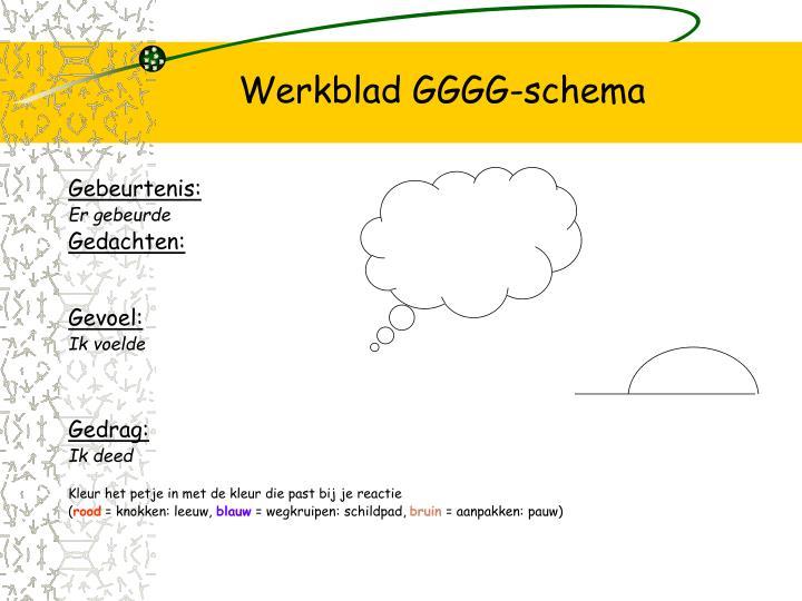 Werkblad GGGG-schema