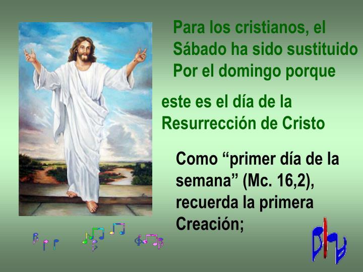 Para los cristianos, el