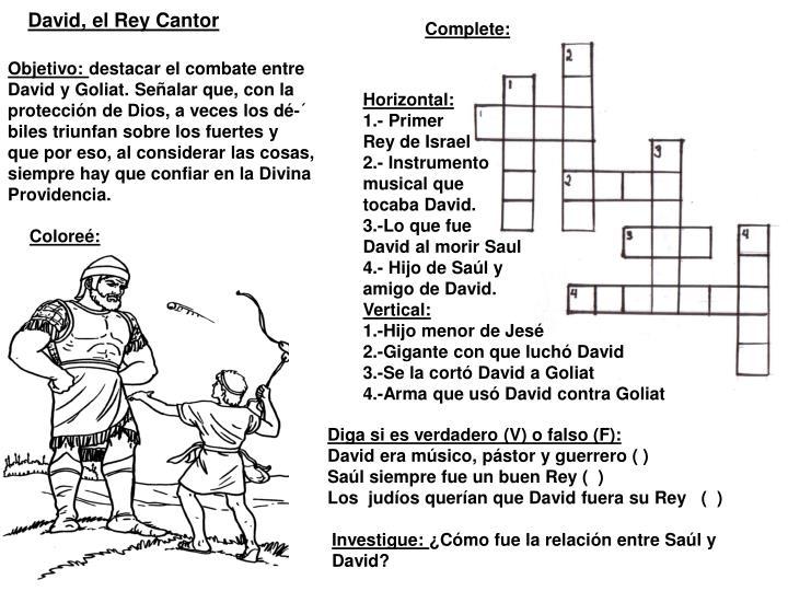 David, el Rey Cantor
