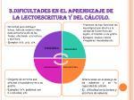 3 dificultades en el aprendizaje de la lectoescritura y del c lculo