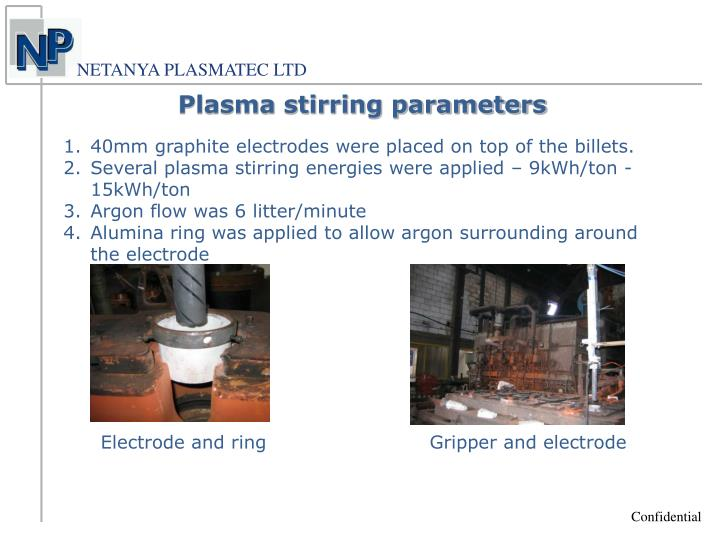 Plasma stirring parameters