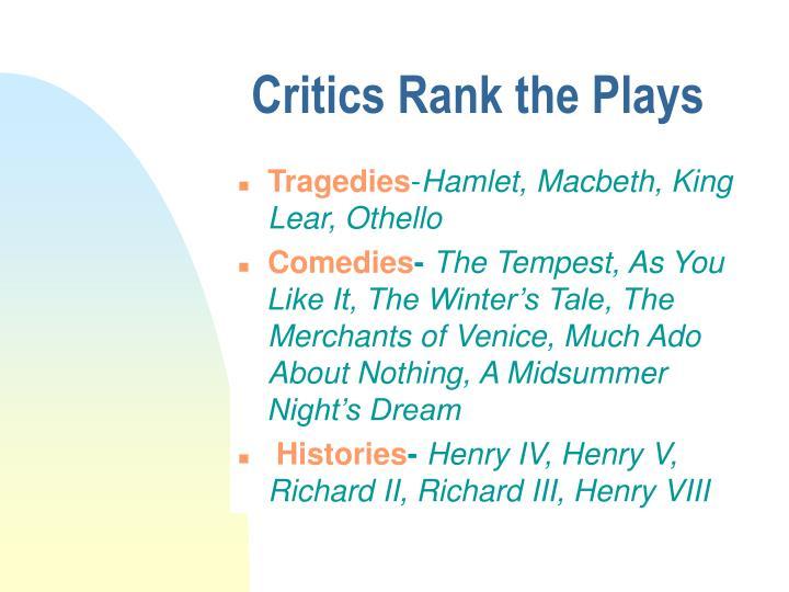 Critics Rank the Plays