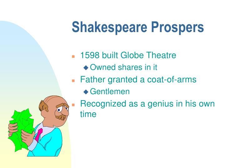 Shakespeare Prospers