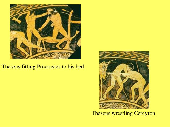 Theseus fitting Procrustes to his bed