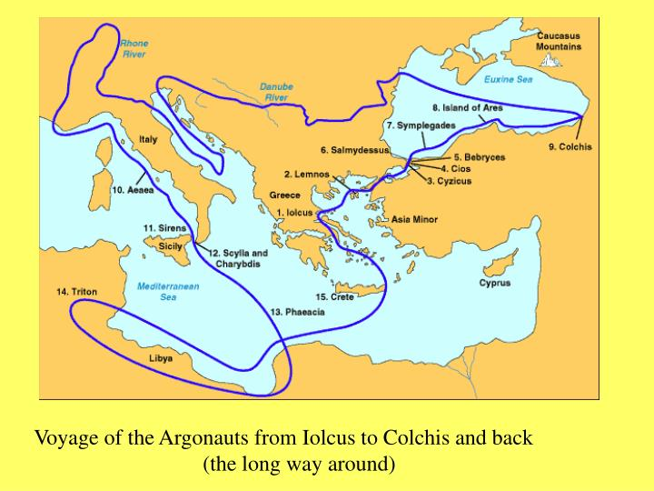 Voyage of the Argonauts from Iolcus to Colchis and back