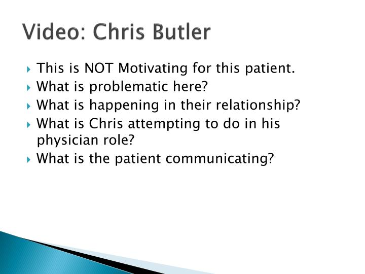 Video: Chris Butler