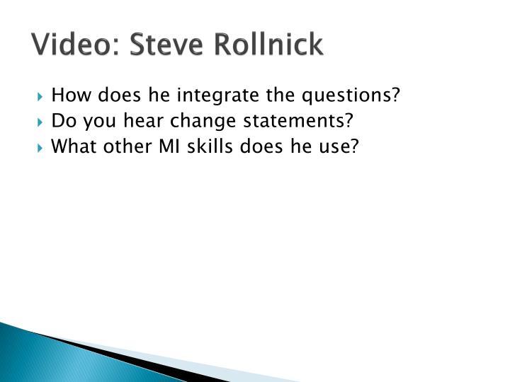 Video: Steve Rollnick