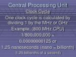central processing unit11