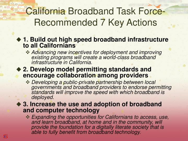 California Broadband Task Force-
